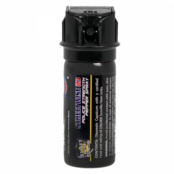 Police Strength Streetwise 23 Pepper Spray 2 oz Flip Top