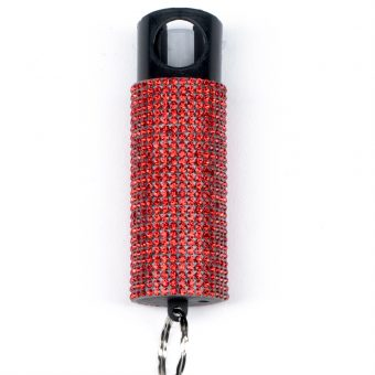 self protection weapons Bling It On pepper spray Red