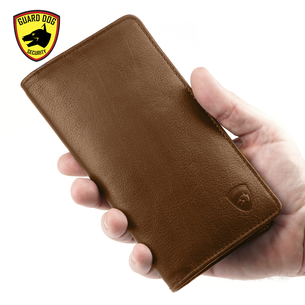 theft proof wallet BROWN LARGE