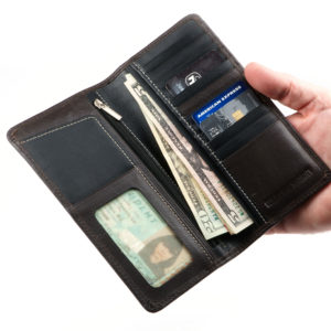 rfid credit card holder WALLET BLACK LARGE