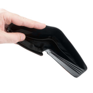 BLACK rfid id wallet SMALL