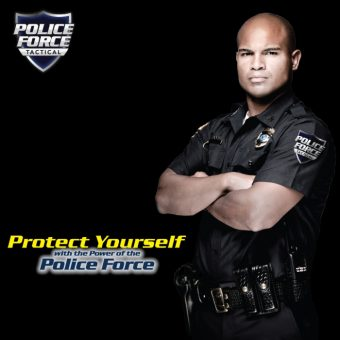 Police Force Tactical Poster with Police Officer Modelling