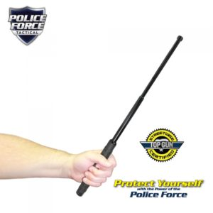 holding extendable police force baton