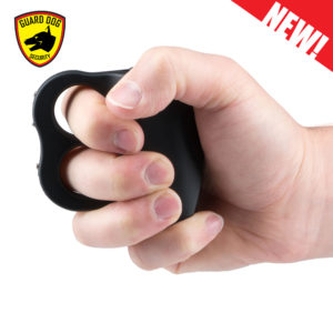 black self defense knuckle taser grip