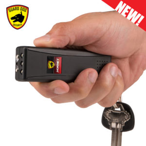 man using black stun gun