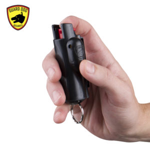 black keychain pepper spray guard dog