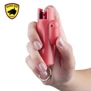 Pepper Spray Pink Keychain Guard Dog