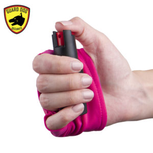 pink active wear guard dog pepper spray