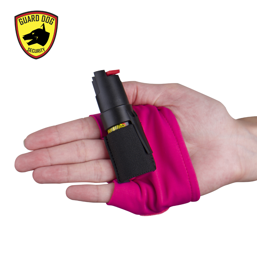 guard dog pepper spray pink hand sleeve easy grip active wear