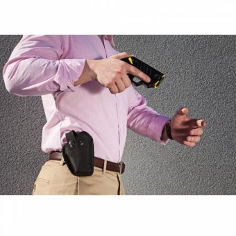 Taser Pulse Holster with Strap in Action