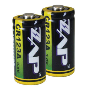 Genuine ZAP Lithium CR123A Batteries