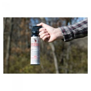hand holding bear pepper spray