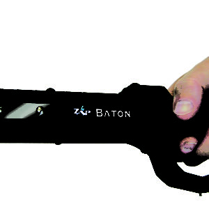 holding self defense zap baton