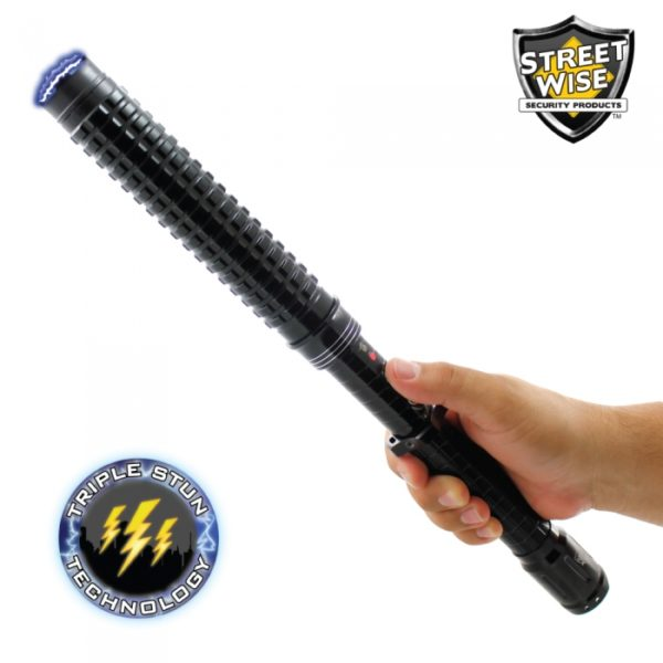Streetwise Attitude Adjuster 30,000,000 Stun Baton Flashlight Hand expandable baton for sale