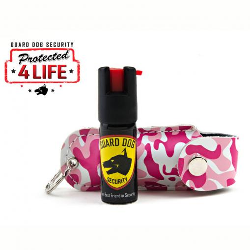 pepper spray and pink camo case