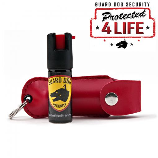 personal pepper spray and red case