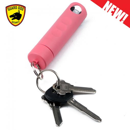 hnh pink pepper spray attached to keys