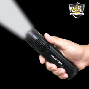 police strobe flashlight